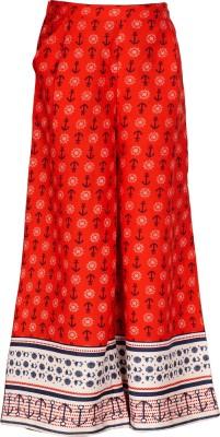 Naughty Ninos Regular Fit Girls Red Trousers at flipkart
