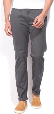 United Colors of Benetton Slim Fit Women Grey Trousers at flipkart