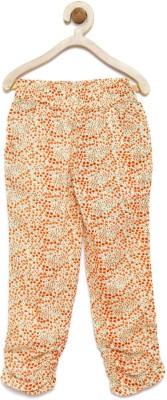 Yk Regular Fit Girls Beige, Orange Trousers at flipkart