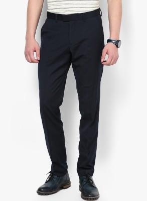 Jack & Jones Regular Fit Men Blue Trousers at flipkart