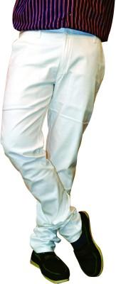 Nation Polo Club Slim Fit Men's Linen White Trousers