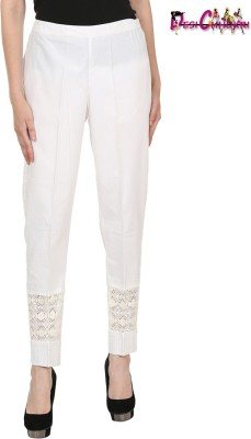 Desi Chhokri Regular Fit Women White Trousers at flipkart