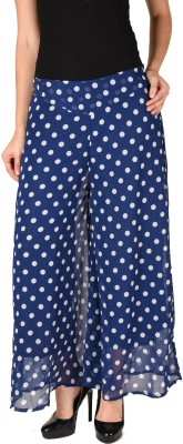 2 Day Relaxed Women White, Blue Trousers 2 Day Palazzos