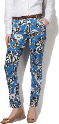 Van Heusen Regular Fit Women Blue Trousers at flipkart