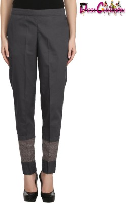 Desi Chhokri Regular Fit Women Grey Trousers at flipkart
