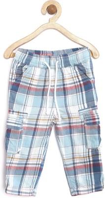 Yk Regular Fit Boys Blue, White Trousers at flipkart