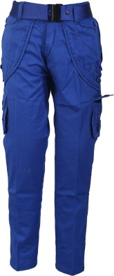Awack Slim Fit Boys Blue Trousers