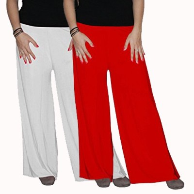 ACE Regular Fit Women Red, White Trousers