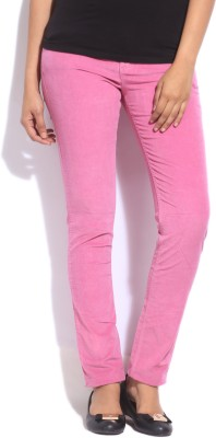 Flying Machine Slim Fit Women Pink Trousers at flipkart