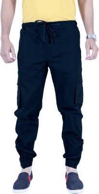 Uber Urban Regular Fit Men's Dark Blue Trousers at flipkart