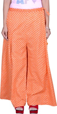 Pezzava Regular Fit Women Orange Trousers at flipkart