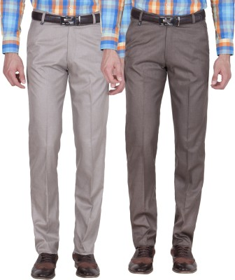 American-Elm Slim Fit Men's Multicolor Trousers