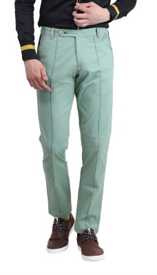 Skoosh Slim Fit Men's Green Trousers
