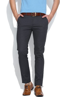 United Colors of Benetton Slim Fit Men Grey Trousers at flipkart