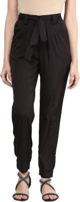 Shree Regular Fit Women Black Trousers