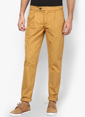 Jack & Jones Regular Fit Men Beige Trousers at flipkart
