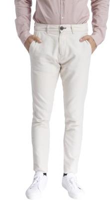 Selected Regular Fit Men Beige Trousers at flipkart