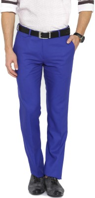 Invictus Slim Fit Men's Blue Trousers at flipkart