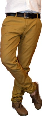 Nation Polo Club Slim Fit Men's Linen Gold Trousers