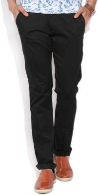 Arrow Sport Regular Fit Men's Black Trousers