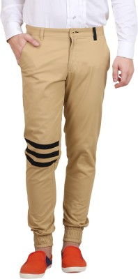 Skoosh Slim Fit Men's Gold Trousers