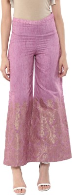 Abhishti Regular Fit Women Pink Trousers at flipkart