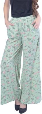Trendy Divva Regular Fit Women Green Trousers at flipkart