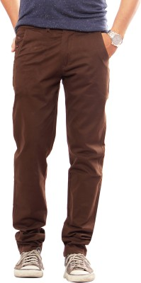 Uber Urban Slim Fit Men Brown Trousers at flipkart