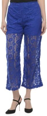 Mayra Casual Regular Fit Women Blue Trousers at flipkart