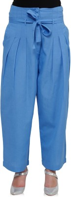 Oxolloxo Regular Fit Women Blue Trousers at flipkart