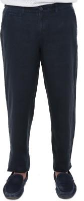 Old Khaki Regular Fit Men's Linen Dark Blue Trousers