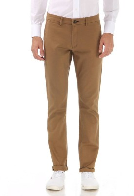 London Fog Slim Fit Men Brown Trousers at flipkart