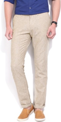United Colors of Benetton Regular Fit Men Brown Trousers at flipkart