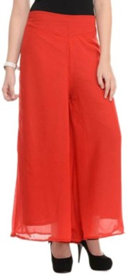 MDS Jeans Slim Fit Women's Red Trousers