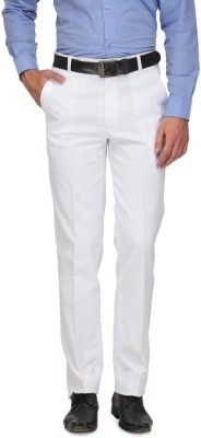 Frankline Regular Fit Men's White Trousers