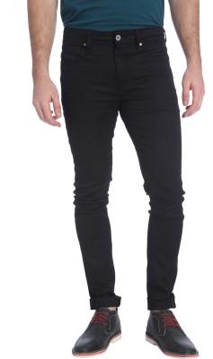Jack & Jones Slim Fit Men's Black Trousers at flipkart