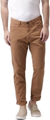 Mast & Harbour Slim Fit Men Brown Trousers at flipkart