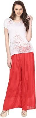 Skyline Trading Regular Fit Women Red Trousers at flipkart