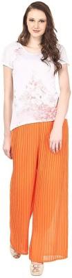 Skyline Trading Regular Fit Women Orange Trousers at flipkart