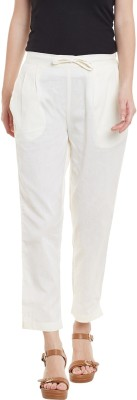 Bitterlime Regular Fit Women White Trousers