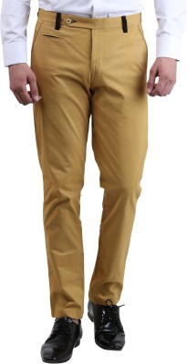 Skoosh Slim Fit Men's Yellow Trousers