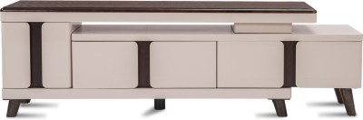 Durian Stella Engineered Wood TV Entertainment Unit(Finish Color - Ivory/Brown)