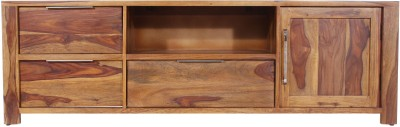 peachtree Solid Wood TV Entertainment Unit(Finish Color - Honey)