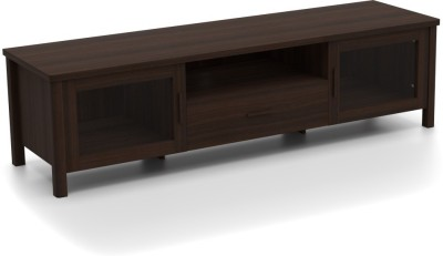 Urban Ladder Norland Glass Engineered Wood TV Entertainment Unit(Finish Color - Dark Walnut)