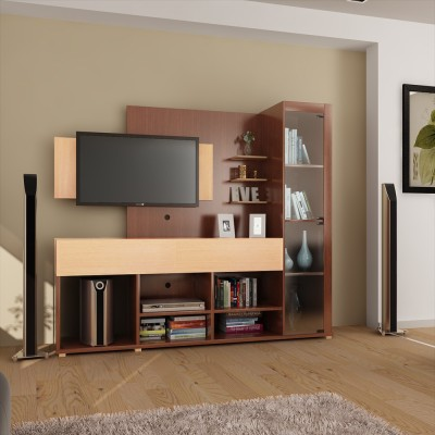 HomeTown Greta Engineered Wood TV Entertainment Unit(Finish Color - Teak)