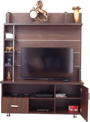 Furnicity Engineered Wood TV Entertainment Unit(Finish Color - Wenge)
