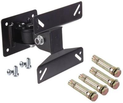 Techvik Safe And Secure Heavy Movable Wall Bracket Kit For 10  24  Led Lcd Plasma Tft Monitor Screen Tilt TV Mount