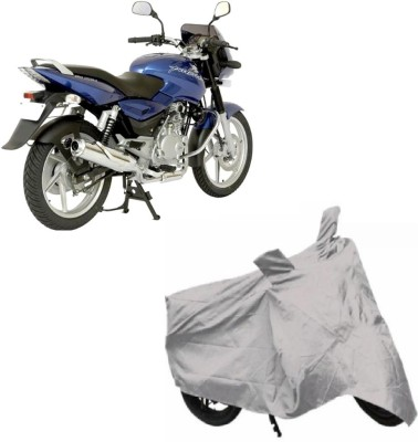 Auto Wheel Garage Two Wheeler Cover for Bajaj(Pulsar 150, Silver)  available at flipkart for Rs.199