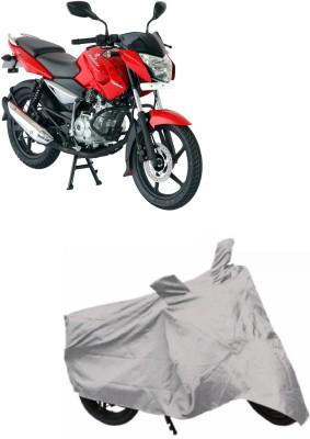 Autowheel Two Wheeler Cover for Bajaj(Pulsar, Silver)