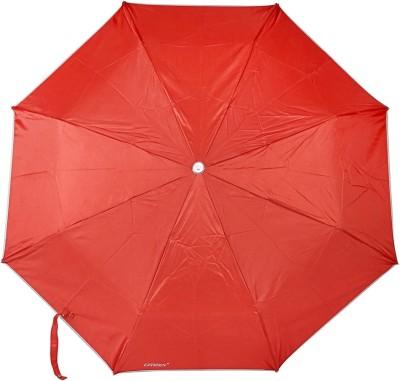 Bizarro Plain 3-Fold Heavy Quality 1 Umbrella(Red)